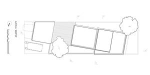 Casa YY. Cubo Rojo Arquitectura. Planta de Cubiertas
