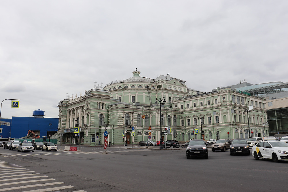 Mariinsky Theatre on a cloudy day st petersburg russia