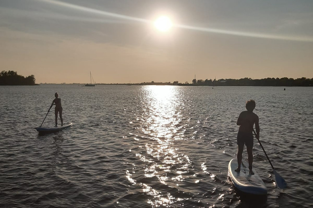 Rent a stand up paddle board with your boating holiday in Friesland