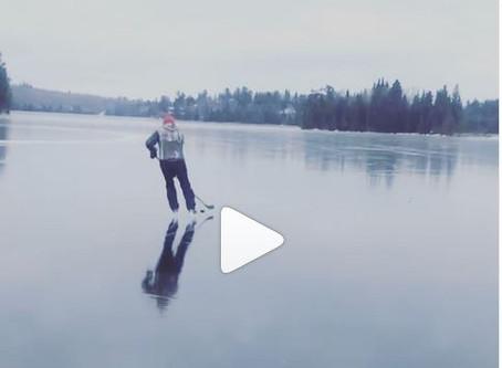 Amazing video shows Falcon Lake as mirror
