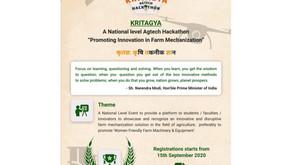 'KRITAGYA'- National Level Agtech Hackathon.
