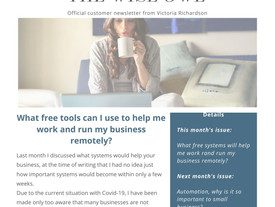 Newsletter March 2020 - What Free Tools Will Help You Work And Run Your Business Remotely?