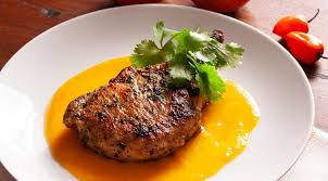Curry Marula Mango Pork Chops