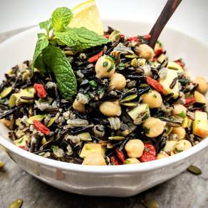 Prebiotic Rich Wild Rice Protein Salad