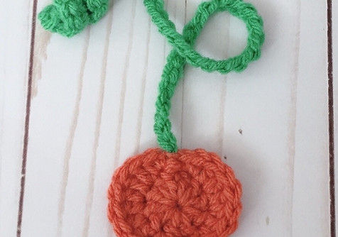 Crochet Pumpkin Bookmark