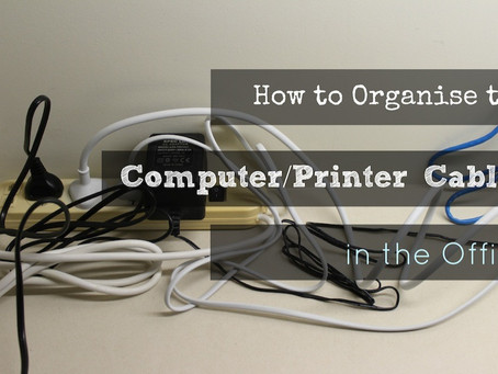 How to Organise the Computer/Printer Cables in the Office …