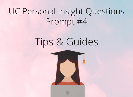 Tips and Guide on Writing UC PIQ Prompt #4