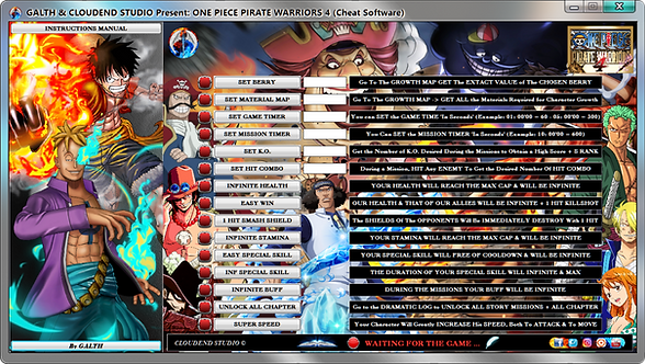 ONE PIECE PIRATE WARRIORS 4, OPPW4, CHEATS, TRAINER, MOD, CODES, SAVE EDITOR, Fling Trainer, Cheat Happens, Wemod, FRF,