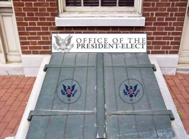Office of the President-Elect. Basement Doors