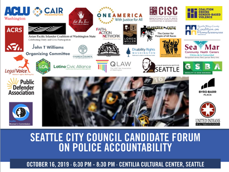 Police Accountability Forum - Wednesday Oct. 16th