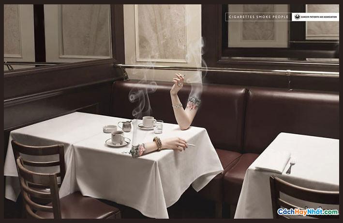 Áp phích quảng cáo chống hút thuốc sáng tạo