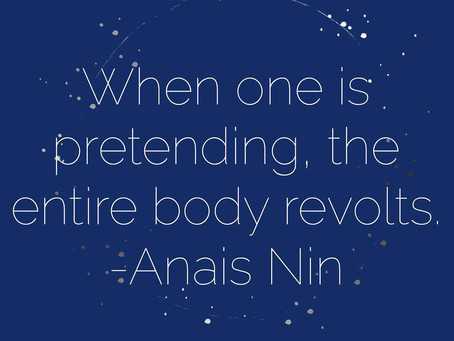 When One is Pretending, the Entire Body Revolts