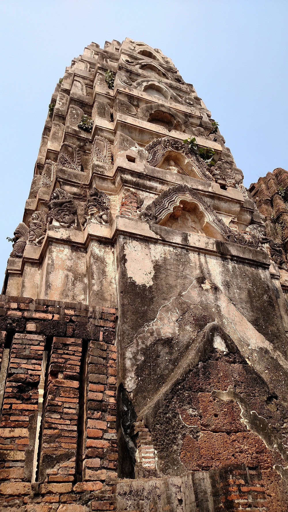 Strolling around the temple ruins of Sukhothai Thailand.