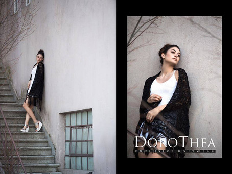 Backstage for Dorothea Exclusive Knitwear MUA  Sakis Isaakidis photoshoot passion for make up
