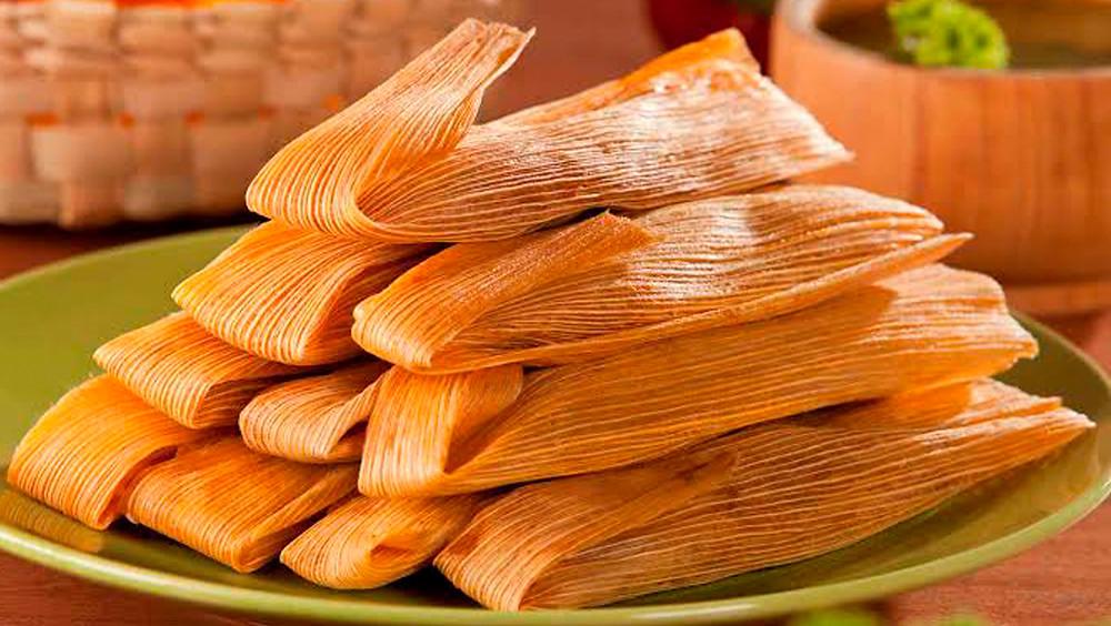 Plato con tamales.