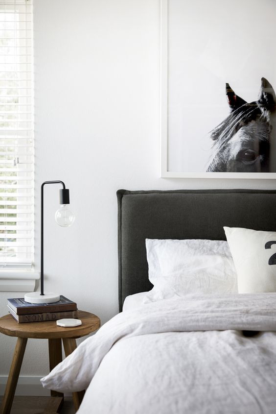 Cowboy Aesthetic Interiors bedroom with horse poster