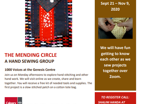 The Mending Circle A Hand Sewing group