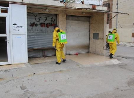 DAMA team conducted sterilization for the public areas in Erbil