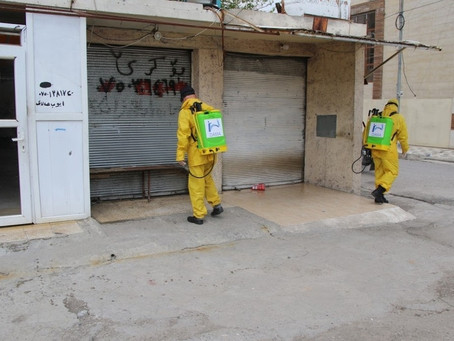 DAMA team conducted sterilization for the public areas in Erbil