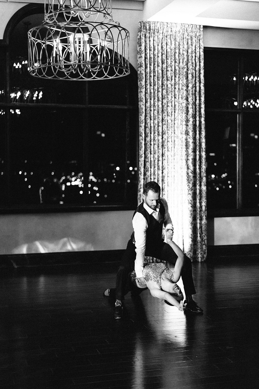 Dancer held up by her partner