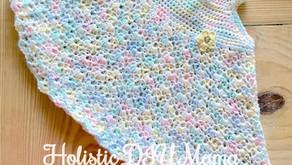 Baby Girl Rainbow Pastel Crochet Dress #freepattern