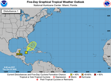 Increasing chance of tropical development: