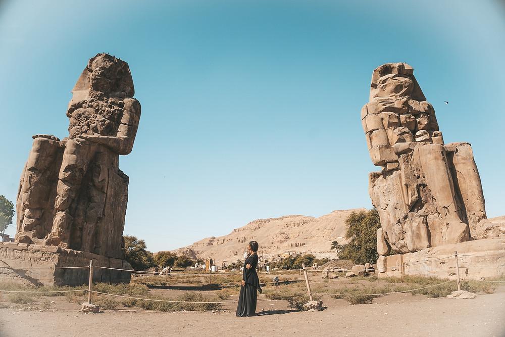 colossi of memnon egypt luxor travel