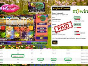 M3win Member Play FairyGarden In 918KISS Get Jackpot Won RM4200 !!!