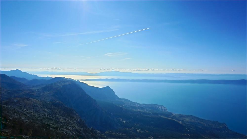 The View of Islands from Ravna Vlaška on Biokovo mountain in Croatia