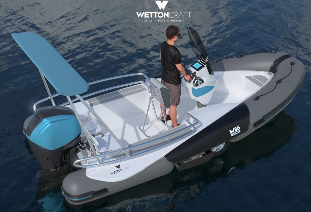 premier bateau avec remorque intégée le wetten56