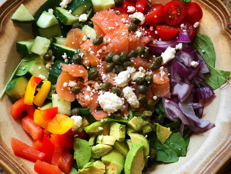 Honey-Dijon Kale Salad with Smoked Salmon