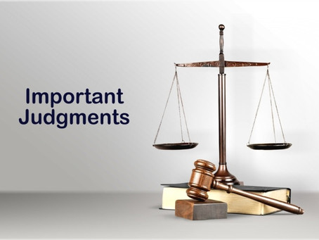 INTERNATIONAL PATENT LAW LANDMARK JUDGEMENTS
