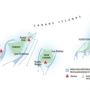 """""""Furtunile"""" din jurul Insulelor Canare"""