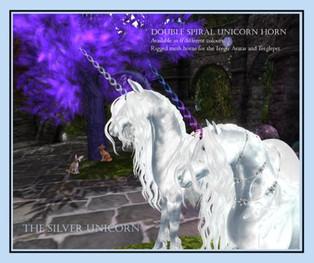 The Silver Unicorn - Double Spiral Unicorn Horn