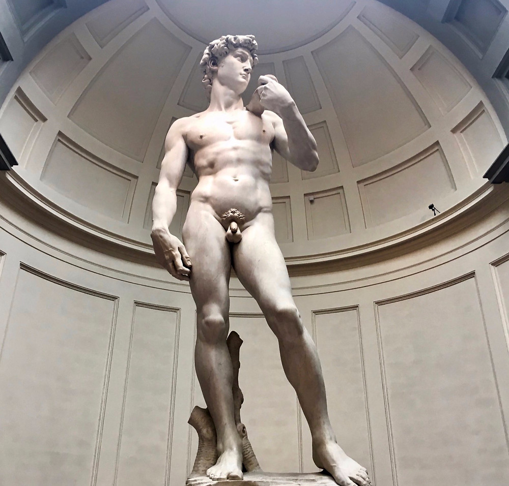Michelangelo's David in the Galleria della Accademia