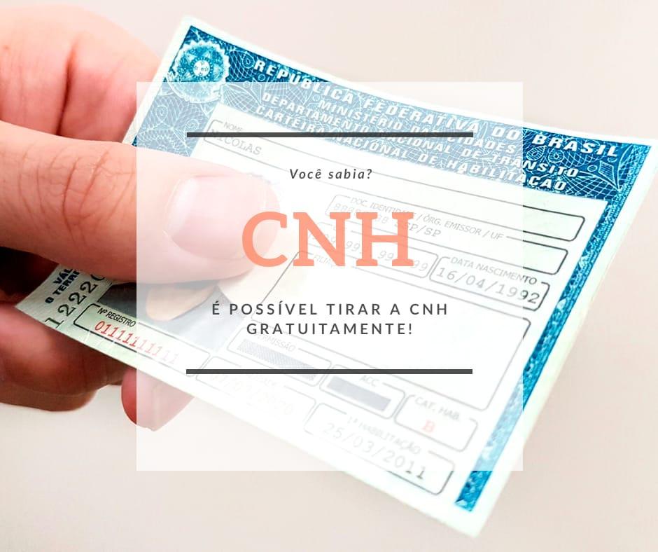 CNH gratuidade Isenção CNH gratuita