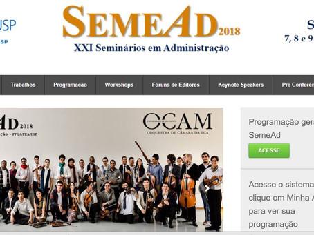 SEMEAD 2018 - 7,8 e 9 novembro