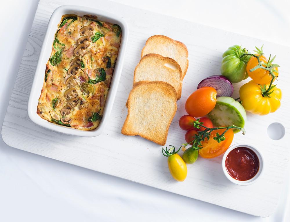 fritata, omletas, pusryčių idėjos, Alfo receptai