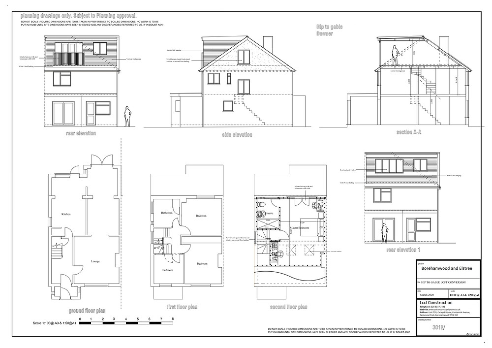Architecture Design of Hip to Gable Loft Conversion in Elstree and Borehamwood, Hertfordshire WD6