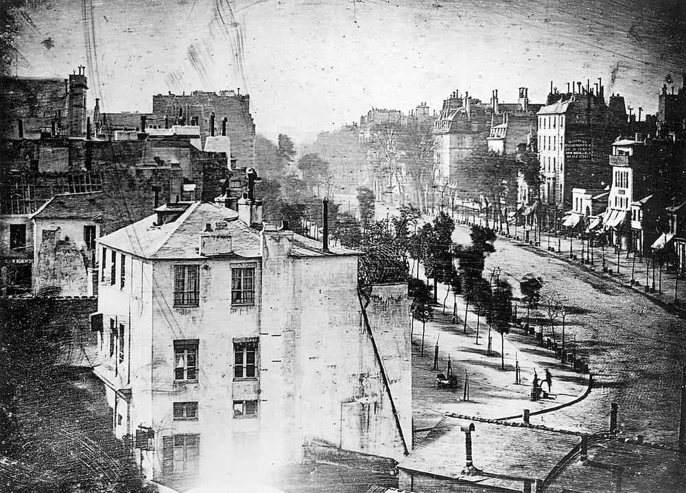 Earliest known street photo - by Louis Daguerre