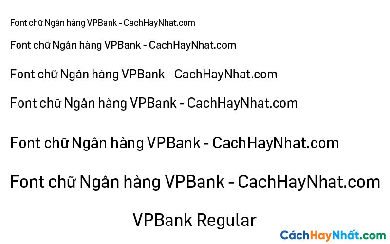 Font VPBank Regular
