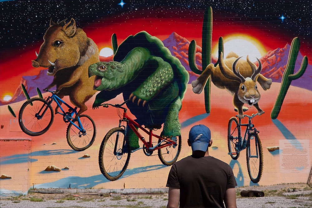 Epic rides bike mural; Joe Pagac