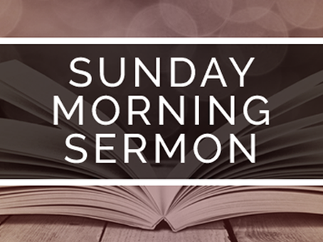 Sermon November 4, 2018