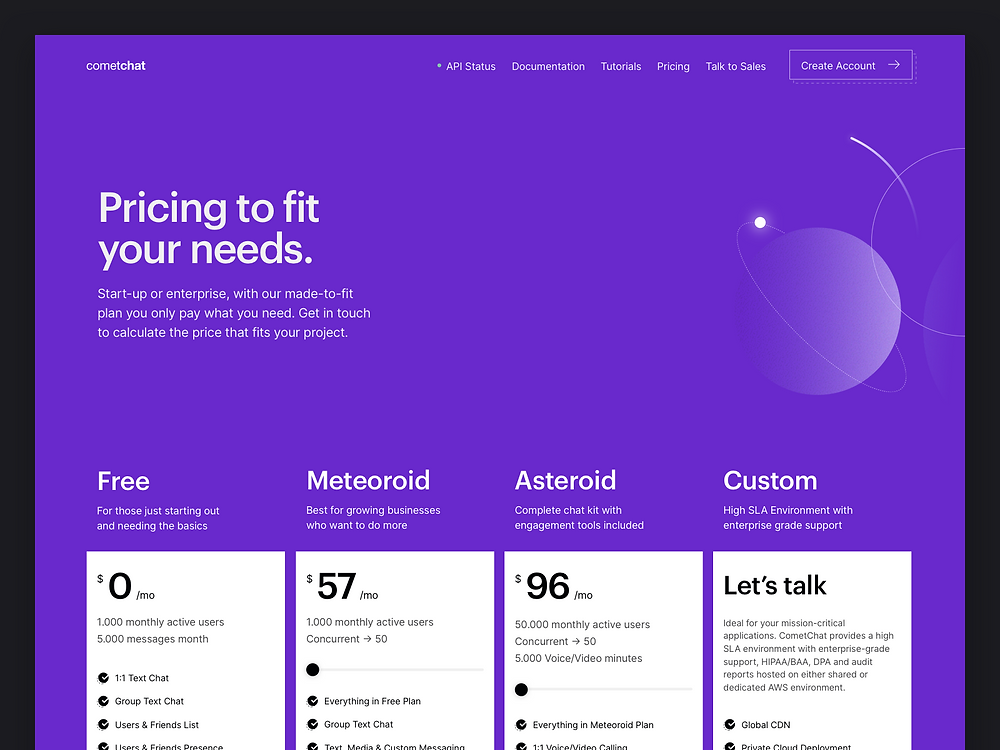 CometChat Pro — Pricing