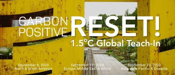Registration Open: Global Carbon Positive Reset Tech-In