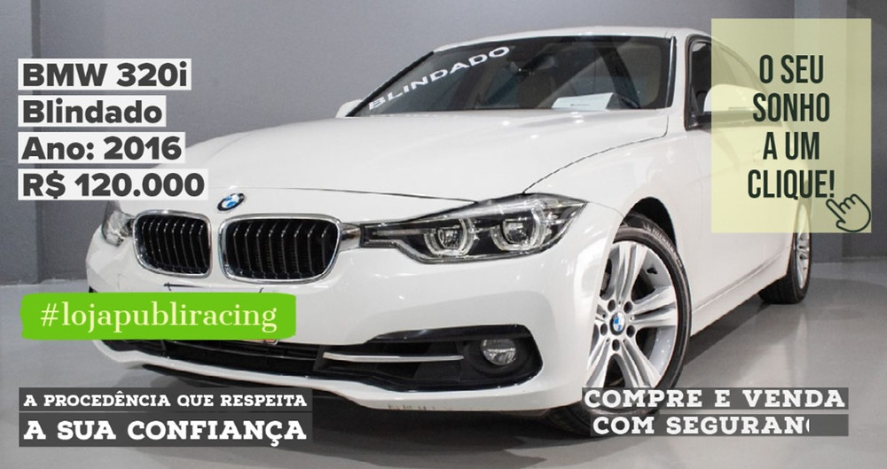 ACESSE #LOJA CLICANDO - BMW 320i - Blindado - Ano 2016