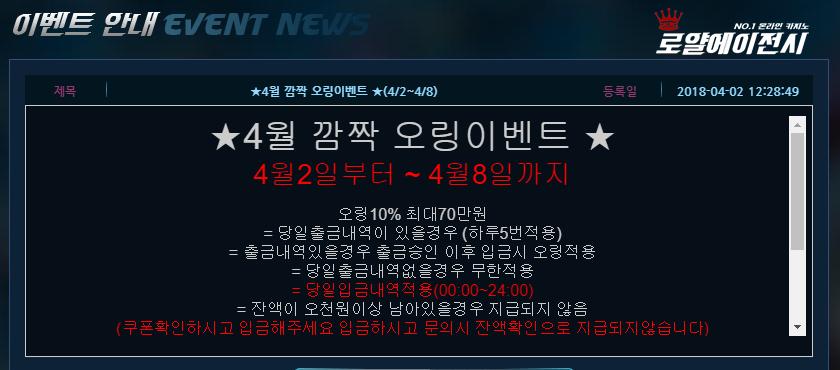 슈퍼카지노 이벤트 정보
