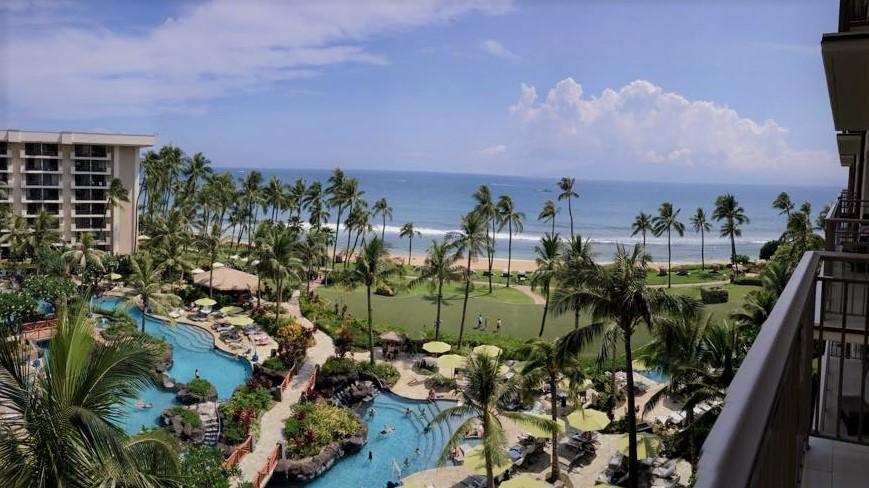 Beautiful resort and gardens of the Hyatt Regency, Maui