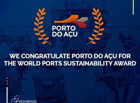 PORTO DO AÇU WINS IAPH INTERNATIONAL SUSTAINABILITY AWARD