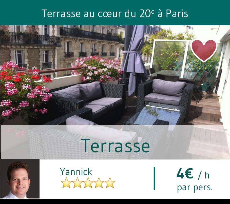 Terrasse Yannick Paris